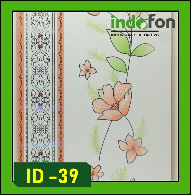 plafon pvc corak bunga